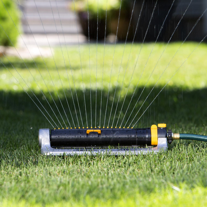 XT Metal Turbo Oscillating Sprinkler with Flow Control   Melnor, Inc